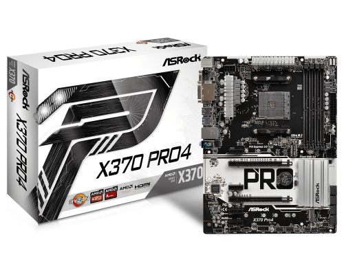 PLACA BASE AM4 ASROCK X370 PRO4