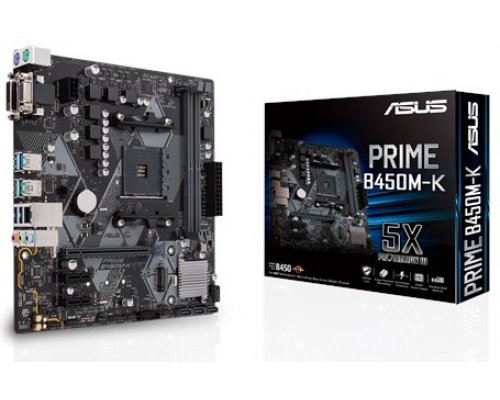 PLACA BASE AM4 ASUS PRIME B450M-K mATX