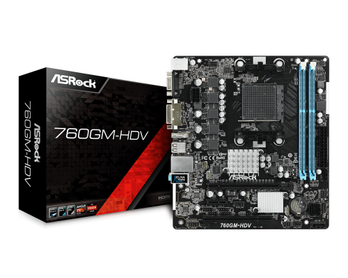 PLACA BASE AM3+ ASROCK 760GM-HDV mATX