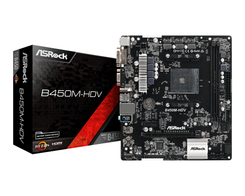 PLACA BASE AM4 ASROCK B450M HDV mATX R4.0