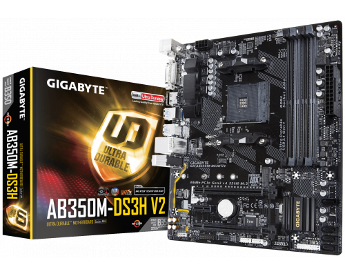 PLACA BASE AM4 GIGABYTE AB350M-DS3H V2 mATX