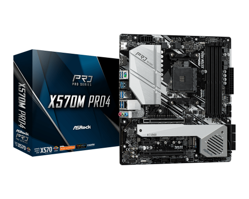 PLACA BASE AM4 ASROCK X570M PRO4 mATX
