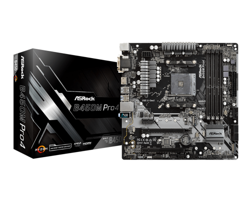 PLACA BASE AM4 ASROCK B450M PRO4 mATX