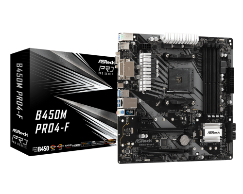 PLACA BASE AM4 ASROCK B450M PRO4-F mATX