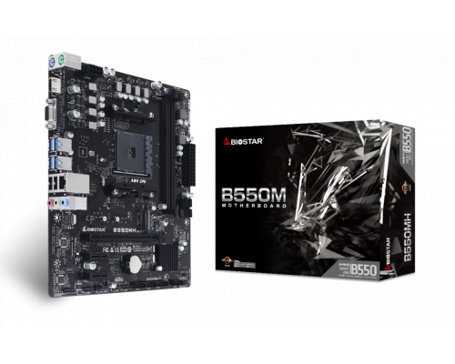 PLACA BASE AM4 BIOSTAR B550MH mATX