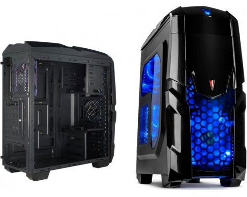 CAJA ATX Q2 GAMING ILUMINATOR USB3.0 WINDOW BLUE LEDS