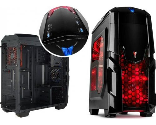 CAJA ATX GAMING ILUMINATOR USB3.0 WINDOW RED LEDS