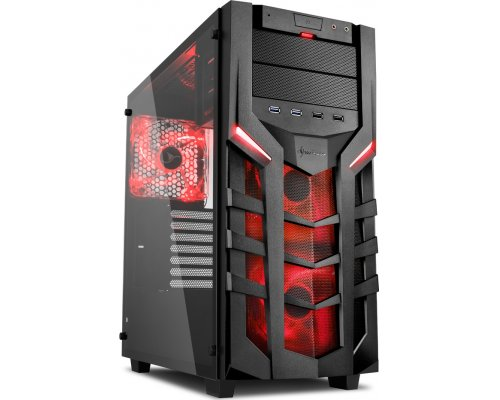 CAJA ATX SHARKOON GAMING DG7000-G ROJO