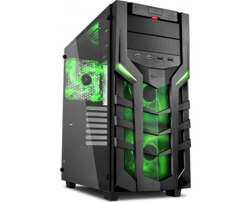 CAJA ATX SHARKOON GAMING DG7000-G VERDE