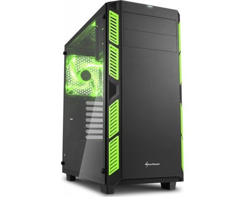 CAJA ATX SHARKOON AI7000 GLASS GREEN