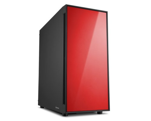 CAJA ATX SHARKOON GAMING AM5 SILENT ROJO