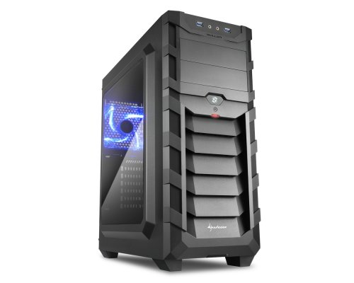 CAJA ATX SHARKOON GAMING SKILLER SGC1 WINDOW AZUL