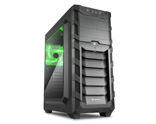 CAJA ATX SHARKOON GAMING SKILLER SGC1 WINDOW VERDE