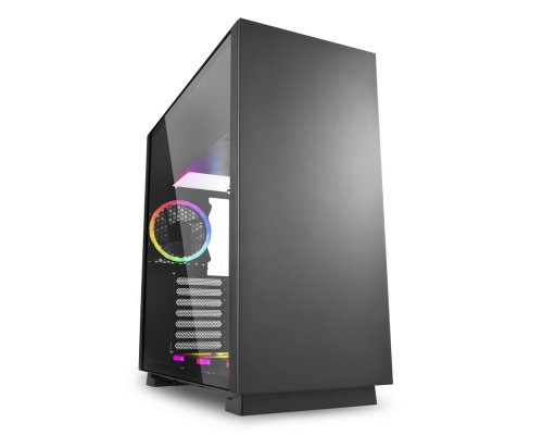 CAJA E-ATX SHARKOON PURE STEEL RGB NEGRO