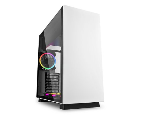 CAJA E-ATX SHARKOON PURE STEEL RGB BLANCO