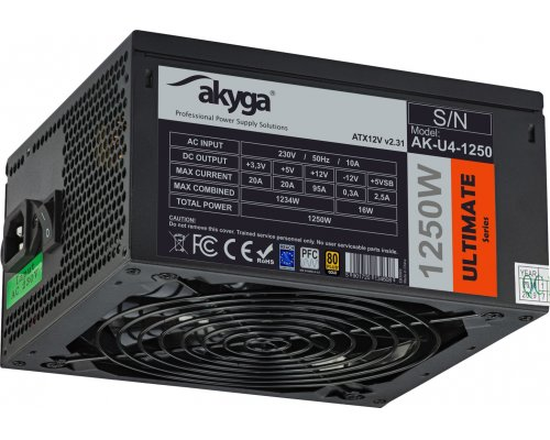 FUENTE 1250W AKYGA ULTIMATE ATX2.31 80+GOLD