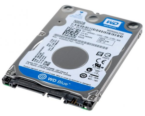 "HD 2.5"" SATA3 500GB WESTERN DIGITAL BLUE WD5000LPVX"