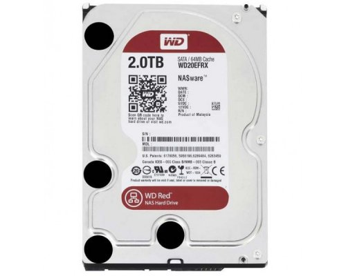 HD SATA3 2TB WESTERN DIGITAL CAVIAR RED WD20EFRX