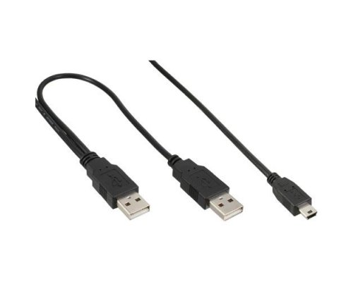 CABLE USB2.0 MACHO DOBLE / MINIUSB 5pin MACHO 1m
