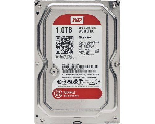 HD SATA3 1TB WESTERN DIGITAL CAVIAR RED WD10EFRX