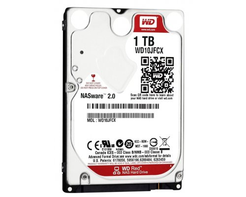 "HD 2.5"" SATA 1TB WESTERN DIGITAL RED WD10JFCX"