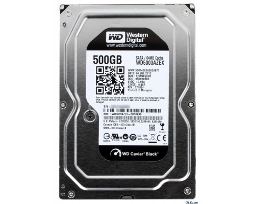 HD SATA3 500GB WESTERN DIGITAL CAVIAR BLACK 64MB WD5003AZEX