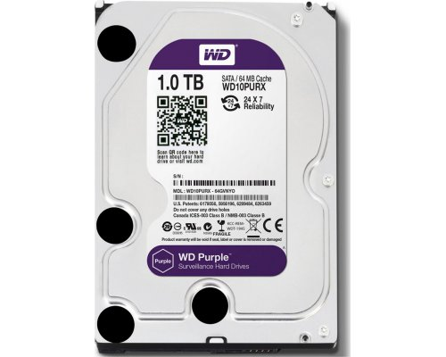 HD SATA3 1TB WESTERN DIGITAL PURPLE WD10PURX