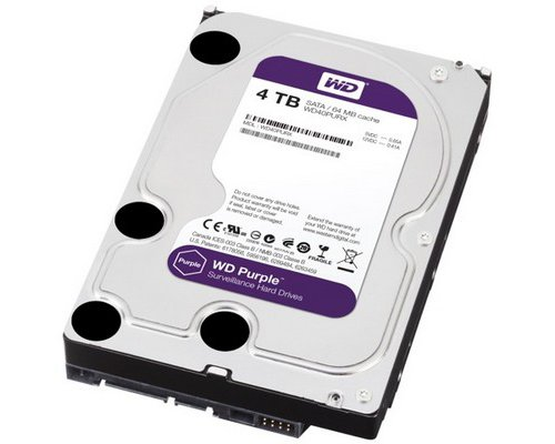 HD SATA3 4TB WESTERN DIGITAL PURPLE WD40PURX 64MB