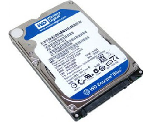 "HD 2.5"" SATA 750GB WESTERN DIGITAL BLUE WD7500BPVX"