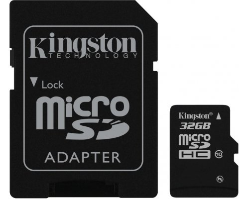 MEMORIA MICROSD 32GB KINGSTON CLASE10 UHS-I + ADAPTADOR SD