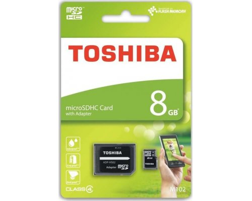 MEMORIA MICROSD 8GB TOSHIBA M102 HIGH SPEED + ADAPT. SD
