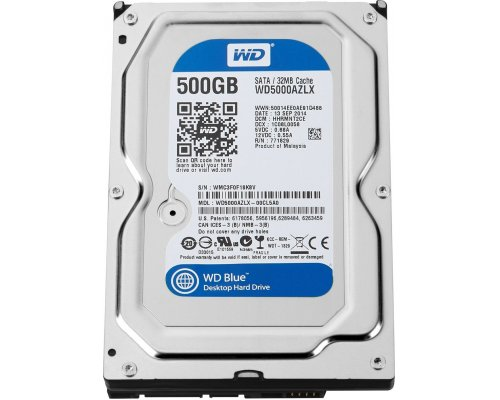 HD SATA3 500GB WESTERN DIGITAL CAVIAR BLUE WD5000AZLX