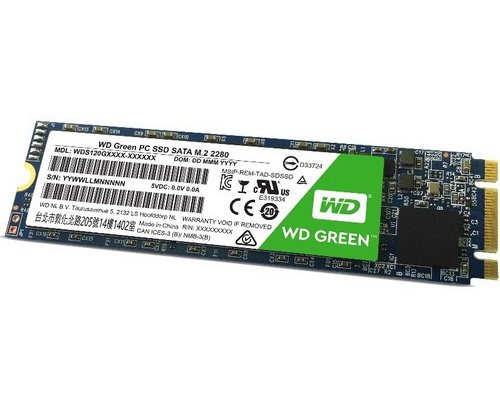 SSD M.2 SATA 120GB WESTERN DIGITAL GREEN WDS120G