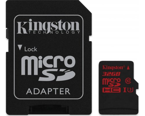 MEMORIA MICROSD 32GB KINGSTON U3 ACTION CAMERA