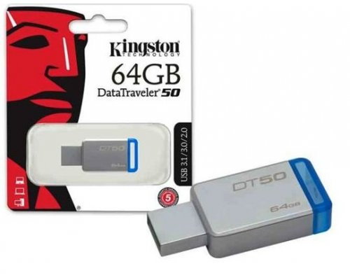 PENDRIVE 64GB KINGSTON DT50 USB3.1 AZUL