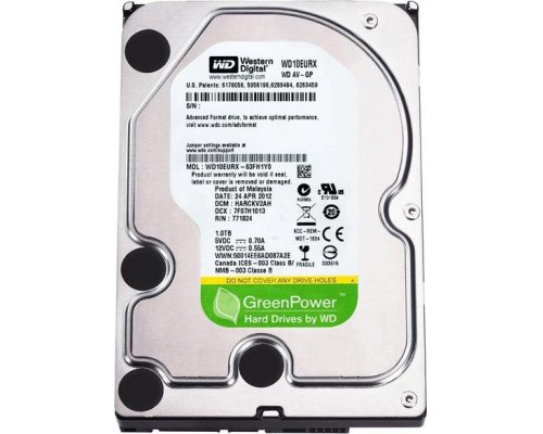 HD SATA3 1TB WESTERN DIGITAL AV-GP GREEN WD10EURX