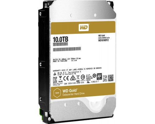 HD SATA3 10TB WESTERN DIGITAL GOLD DATACENTER CACHÉ256MB
