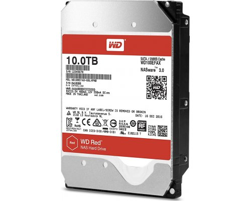 HD SATA3 10TB WESTERN DIGITAL RED WD100EFAX