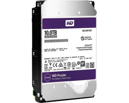 HD SATA3 10TB WESTERN DIGITAL PURPLE WD100PURZ
