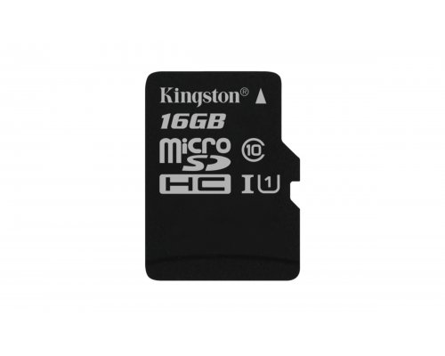 MEMORIA MICROSD 16GB KINGSTON CLASE10 CANVAS SELECT 80MB/s