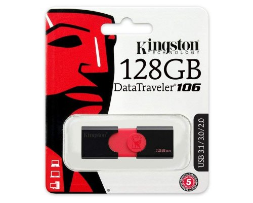 PENDRIVE 128GB KINGSTON DT106 USB3.1 NEGRO
