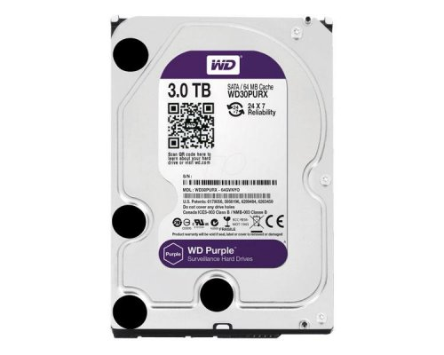 HD SATA3 3TB WESTERN DIGITAL PURPLE 24/7 WD30PURZ