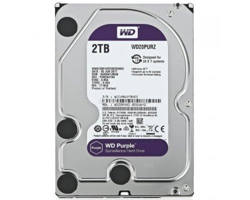 HD SATA3 2TB WESTERN DIGITAL PURPLE