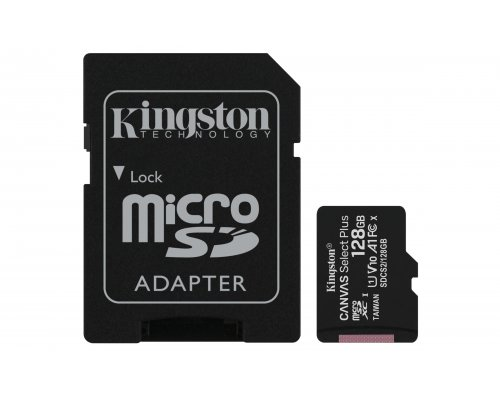 MICRO SD 128 GB CANVAS SELECT 1 ADAP. CLASS 10 KINGSTON