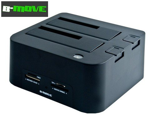 "DOCK HD B-MOVE 2.5"" / 3.5"" + LECTOR TARJETAS + HUB USB2.0"