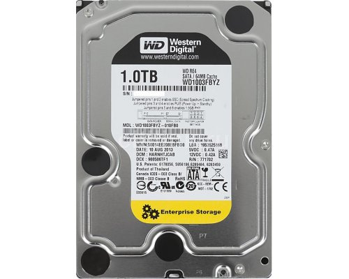 HD SATA3 1TB WESTERN DIGITAL RE4 WD1003FBYZ 64MB CACHÉ