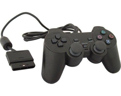 GAMEPAD COMPATIBLE SONY PS2 DUAL SHOCK NEGRO