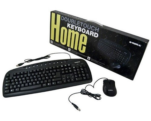 TECLADO+RATÓN B-MOVE DOUBLE TOUCH MULTIMEDIA USB