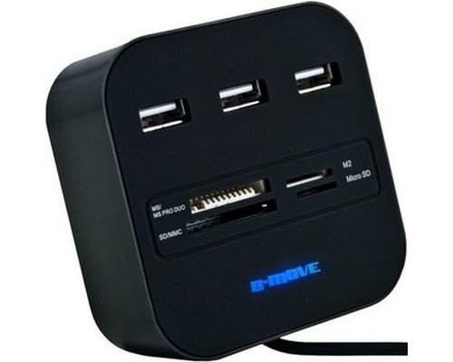 HUB USB B-MOVE ALL IN ONE LECTOR DE TARJETAS BM-CR04
