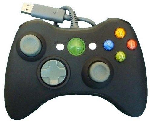 GAMEPAD XBOX360 COMPATIBLE USB NEGRO